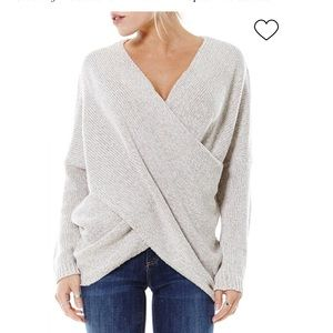 Aeon Wrap Front Sweater Size S